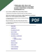 Prevención Primaria Del Fracaso. El Cuestionario de Madures Neuropsicologica Infantil. CUMANÍN. Un Estudio Experimental