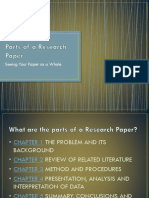 5 Parts of a Research