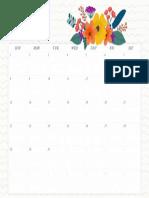 July Wall Calendar