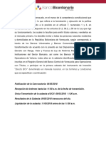 Directo BCV Convocatoria N214