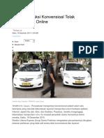 Ini Alasan Taksi Konvensioal Tolak Transportasi Online