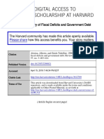 A Positive Theory of Fiscal Deficits and Government Debt