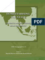 Demilitarising the State - RSIS Monograph
