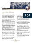 Peace Corps Milestone Factsheet