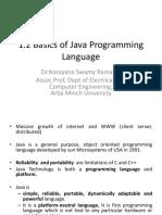 Basics of Java Programming Language