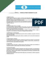 COMISIÓN ÉTICA – NORMAS PROCEDIMENTALES FIDE