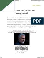 ¿Irán e Israel Han Iniciado Una Nueva Guerra_, Por Thierry Meyssan