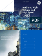 GEPC Medium High Voltage and High Speed Motors Brochure