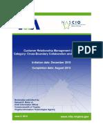 NASCIO Award Proposal - 2016 Customer Relationship Management