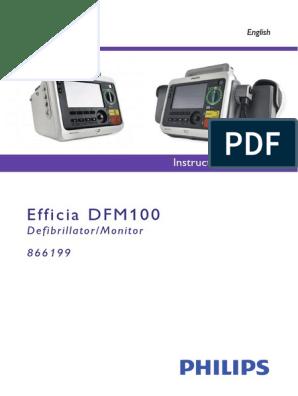 Efficia DFM100 English Instructions for Use