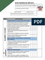 Informe Del Progreso Del Niño Coovitiomar 4 Años 2016