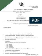Cape Digital Media Unit 1 Paper 1 May 2014