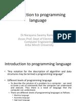 Introduction to Programming Language