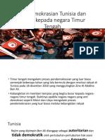 Pendemokrasian Tunisia Dan Impak Kepada Negara Timur Tengah