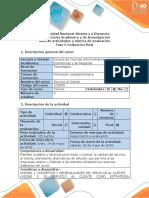Guía de Actividades y Rúbrica de Evaluación -Fase 5. Plantear Modelos de Atención Al Cliente Como Acontecimiento Desencadenante