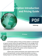 Introduction to Currency Asian Option Valuation