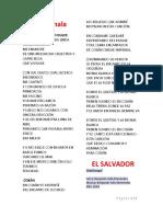 2 Letras de Canciones Por Cada Pais de Centroamerica