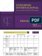 Programa IV Congreso Internacional de La SFU