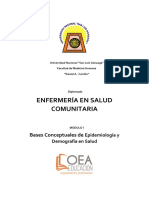 Modulo 1 4. Importancia de La Epidemiologia Para La Salud Publica