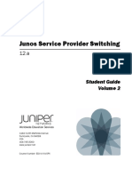 Junos Service Provider Switching (JSPX) 1of2
