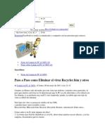 Paso a Paso Como Eliminar El Virus Recycler_bim y Otros Facebookfxfjxj