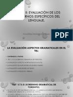 Evaluación de Aspectos Gramaticales.