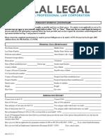 LalLegal AOS Questionnaire