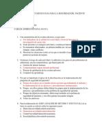 Preguntas Del Documento Guia Para La Seguridad Del Paciente