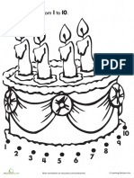 Connect Dots Birthday Cake