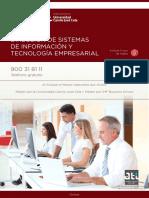 Master en Direccion de Sistemas de Informacion y Tecnologia Empresarial