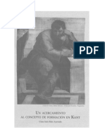 Clara Rios  Un acercamiento al concepto de formación en Kant
