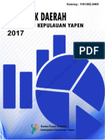 Statistik Daerah Kabupaten Kepulauan Yapen 2017