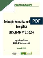 Instrucao Normativa de Eficiencia Energetica Nº 02 2014