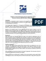 LEEA-053 Guidance on Hand Chain Blocks Used at an Angle to the Vertical - Edition 2