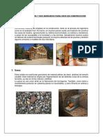 Materias y Primas y Sus Derivados Para Usos en Construcción 1