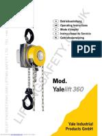 Operating and Maintenance Instructions Yalelift_360