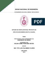 Estudio de Ventilacion Del Proyecto Minero en Huaura