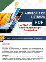 TAAC Técnicas de Auditoría Asistidas Por Computadora