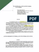 Gloria Perez La investigación acción en la educación formal y no formal