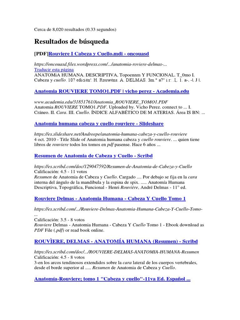 Anatomia Cabeza Y Cuello De Rouviere Pdf