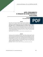 Arte, pensamento e criação de si em Foucault.pdf