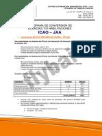 Programa Conversion Licencias Icao Jaa