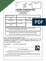 EVALUACIÓN DIAGNÓSTICA DE 7° BÁSICO