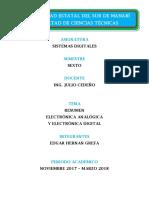 Electrónica Analógica y Electrónica Digital