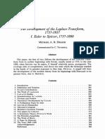 The origin of Laplace Transform