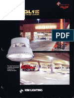 Kim Lighting PGL1HP Parking Garage Luminaire Brochure 1996