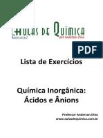 Aulas de Química - Anderson Dino - Ácidos e ânions