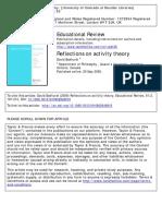 Bakhurst, David -- Reflections on Activity Theory 2009