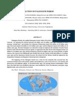 Evolution of Paleogene Period