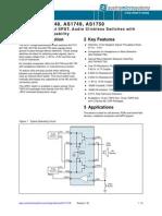 AS1747-50 Datasheet v1 02 Analog Switches